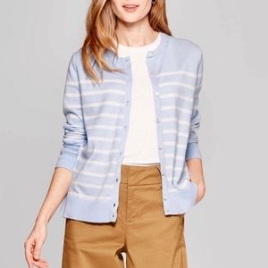 NWT A New Day  Light Blue and Cream Cardigan